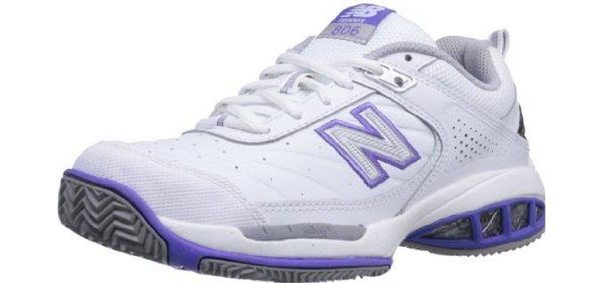 New Balance Women's WC806 - Stability Tennis Shoe for Flat feet