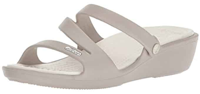 Crocs Women's Patricia - Mini Wedge Slip Resistant Sandal