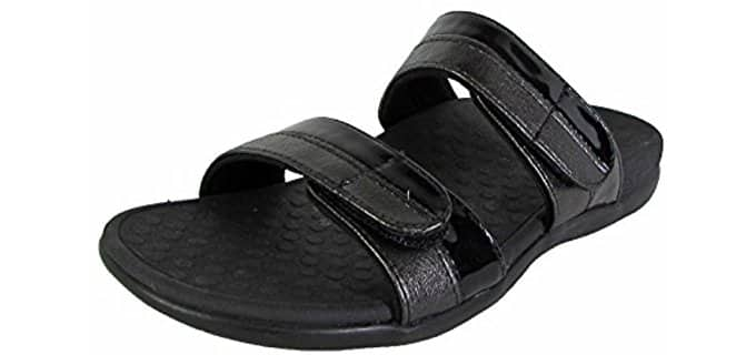 Vionic Women's Shore Slide - Leather Arch Support Sandals