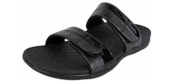 Vionic Women's Shore Slide - Sandal for Low Arched Feet