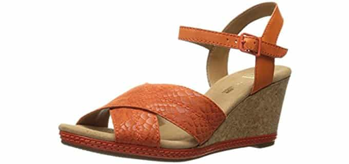 Clarks Women's Helio Latitude - Wedge Heeled Sandal
