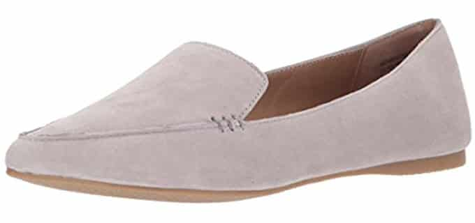 Steve Madden Women's Feather - Teacher's Loafer Flat Shoes