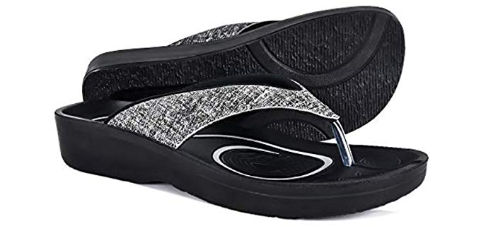 Aerothotic Women's Original - Supportive Flip Flop for The Beach