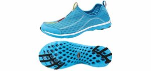 Aleader Women's Mesh - Slip-on water shoes for the beach