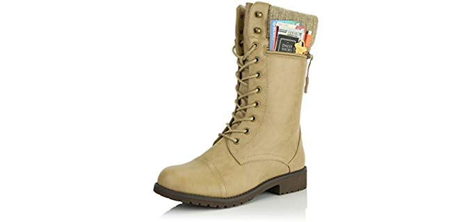 Daily Shoes Women's Military - Buckle Shoe for Larger Feet
