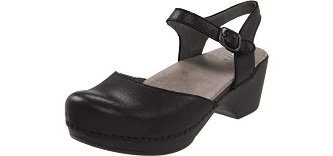 Dansko Women's Sam - Ankle Strap Clogs for Teachers
