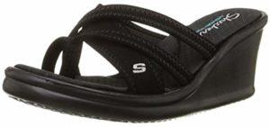 Skechers Women's Rumblers - Formal Slip On Memory Foam Sandals