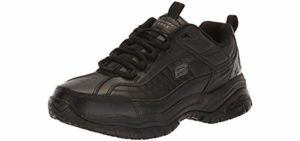 Skechers for Work Men's Soft Stride - Plantar Fasciitis and Knee Pain Shoes