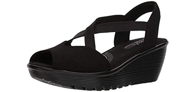 Skechers Women's Parallel Piazza - Skechers Women's Dress peep toe Sandal