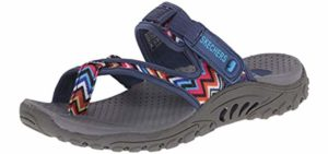 Skechers Women's Reggae - Casual Slip On Memory Foam Sandals