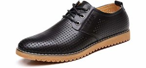 ChicWind Men's Oxford - Peep Toe Booties for Sweaty Feet