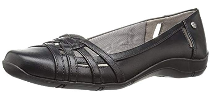 Lifestride Women's Diverse - Open Sesign Arch Support Flats