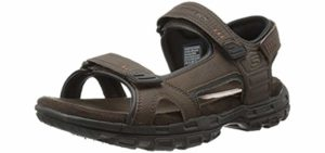 Skechers Men's Louden - Casual Slip On Memory Foam Sandals