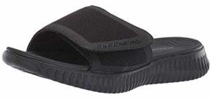 Skechers Men's Elite Flex - Formal Slip On Memory Foam Sandals