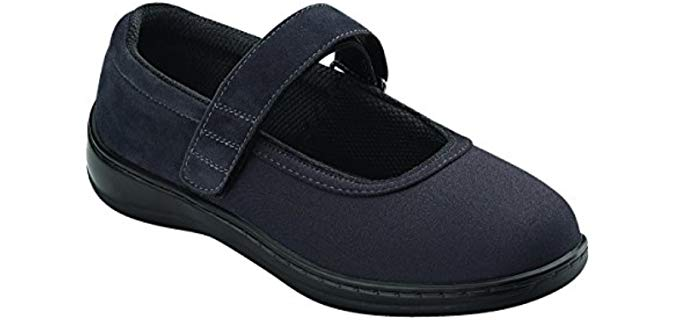Orthofeet Women's Springfield - Hammertoe Accomodating Mary Jane Shoes