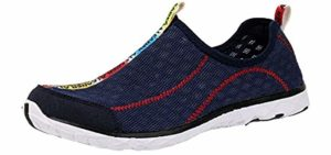 Aleader Men's Mesh - Slip-on water shoes for the beach
