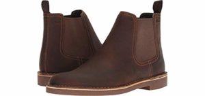 Clarks Men's Bushacre - Plantar Fasciitis Chelsea Boot