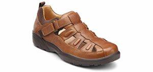 Dr. Comfort Men's Chestnut - Arthritis Heeled Dress Shoe