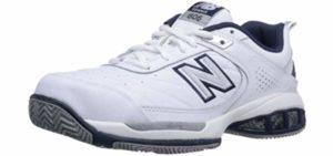New Balance Men's WC806 - Stability Tennis Shoe for Flat feet