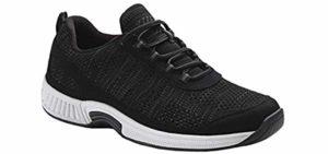 Orthofeet Women's Lava - Knee Problem Slip On Walking Shoe
