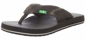 Sanuk Men's Fault Line - Supportive Flip Flop for The Beach