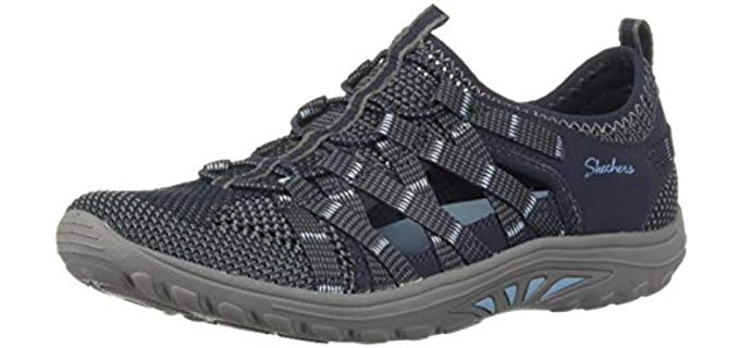 Skechers Women's Reggae Fest Neap - Hiking Fishermans Sandals
