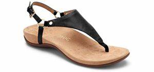 Vionic Women's Rest Kirra - Dress Sandal for Knee Problems