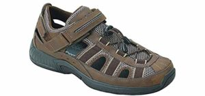 Orthofeet Men's Clearwater - Fisherman's Sandal for Neuropathy