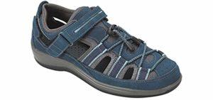 Orthofeet Women's Naples - Fisherman's Sandal for Neuropathy