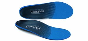 Walk Hero Men's Comfort and Support - Plantar Fasciitis Insoles