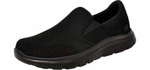 Skechers for Work Men's Flex Advantage - Slip On Laboratory Work Shoe