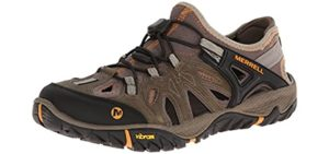 Merrell Men's All Out Blaze Sieve Sport - Vibram Sole Sandal