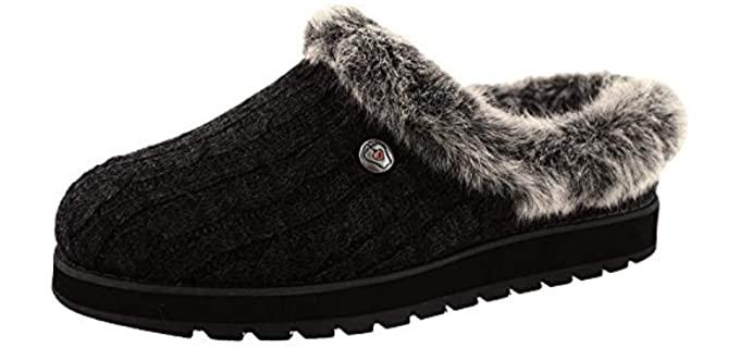 Skechers Women's Sakes Ice Angel - Winter Slip On Slippers