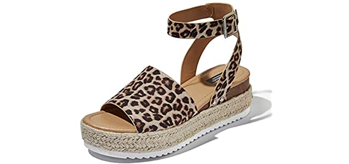DailyShoes Women's Casual - Open Toe Espadrilles