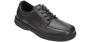 Orthofeet Men's Gramercy - Peroneal Tendinitis dress Shoe