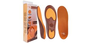 Cradle Plus Men's Orange - Plantar Fasciitis Insoles