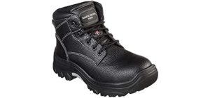 Skechers Women's Burgin Krabok - Industrial Boot for Work