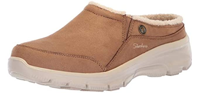 Skechers Women's Easy Going Latte - Gore Slip On