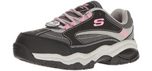 Skechers Women's Biscoe ST - Steel Toe Industrail Shoes for Work