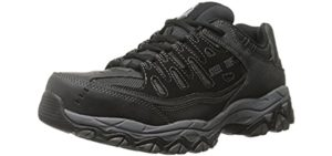 Skechers Men's Cankton Ebbitt - Steel Toe Industrail Shoes for Work