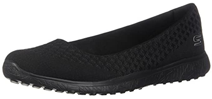 Skechers Women's Microburst - Slip on Pump for Flat Feet and Low Arches