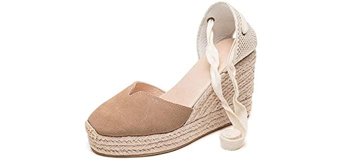 U-Lite Women's Cap Toe - Espadrille Sandals