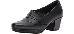 Clarks Women's Emslie Warbler - Wide and Flat Feet Dress Shoes for