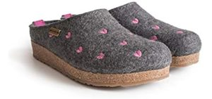 Haflinger Women's Grizzly - Plus Sized Slip-On Loafer