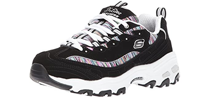 Skechers Women's D'Lites - Casual Big Feet Shoes