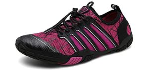Ubfen Women's Aqua Shoes - Laced Water Shoes for Snorkelling