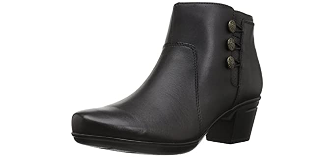Clarks Women's Emslie - Dress Ankle Boots for Comfort and Walking