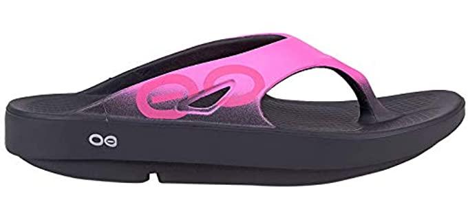 OOFOS Women's OORiginal Sport - Sporty Flip Flops with a Rocker Bottom