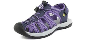 DreamPairs Women's Adventurous - Sandals for Achilles Tendinitis