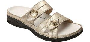 Drew Women's Slides - Orthotic Friendly Arthritis Sandal